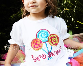 Girls Personalized Lollipop Birthday Shirt