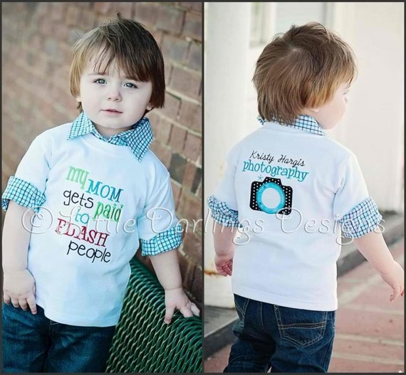 My Mom Gets Paid to Flash People - If you are a photographer that is also a mom or dad, this shirt is perfect for your little darling