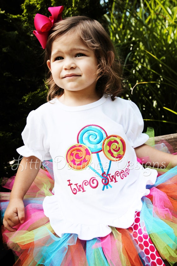 Girls Personalized Lollipop Birthday Shirt