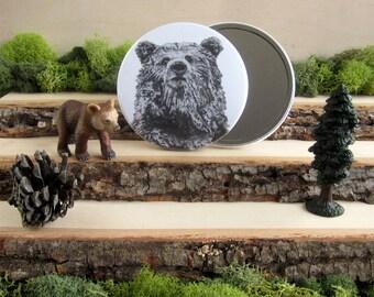 "Bear Pocket Mirror 3.5"" - His True Colors"