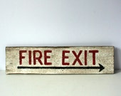 RESERVED vintage wood sign: mighty finds