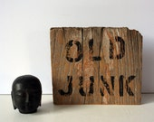 primitive wood sign - old junk: mighty finds