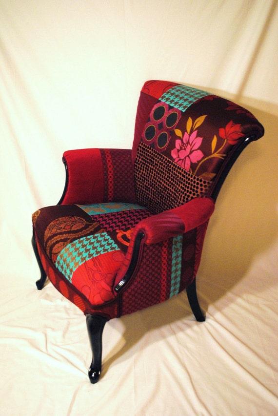 Plum Patchwork Chair