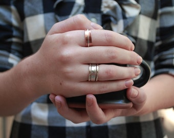 faceted stack ring