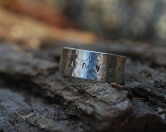 """Personalized sterling band. """"Say Its True"""" ring"""