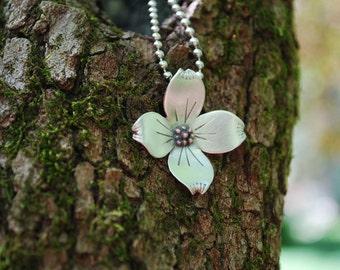 "Sterling Silver ""Embrace Spring"" Dogwood Necklace"