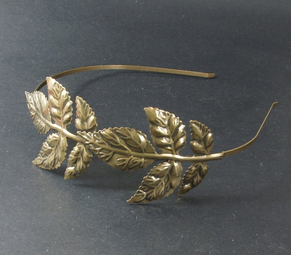 2pcs 4mm Metal Antiqued Bronze Color Plated Maple Leaf  Headbands