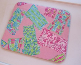 Mouse pad made with Lilly Pulitzer Fabric Shift Dresses
