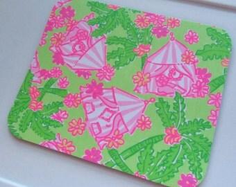 Lilly Fabric Mouse Pad Cabanarama