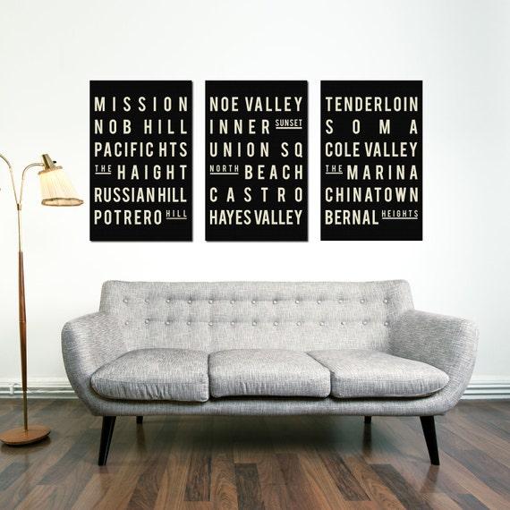 San Francisco Poster - San Francisco Travel Art - San Francisco Typography - Gift for New Home - Apartment Wall Art - Poster Print