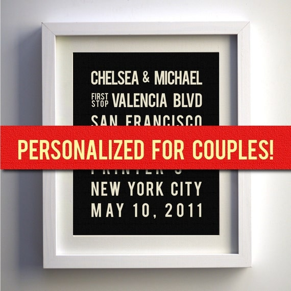 Personalized Anniversary, Gift, Personalized Wedding Gift, Couples Gift, 1 year Anniversary, Love Sign, Unique Wedding Gift for Couple