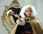 Barbie  Cape in Gold Velveteen