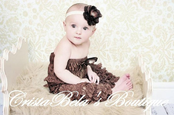 70% OFF Brown  lace Petti Romper pants  Outfit ..