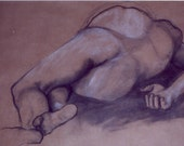reclining nude male sketch
