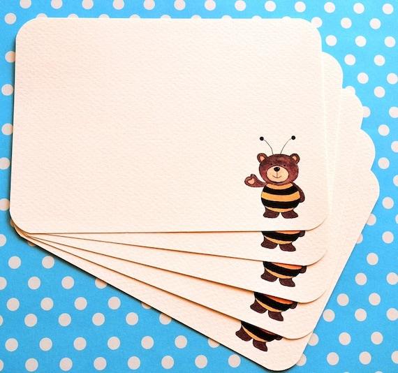 Bronte Bumblebee Bear Notecards (set of 5)