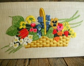 Floral Needlepoint Wall Hanging, That 70s Show