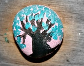 Tree of Life Rock Painting approx 2 x 2
