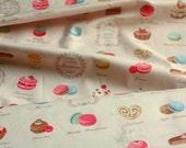 Japanese Fabric Cotton - Patisserie Pink - fat quarter 50x 55cm