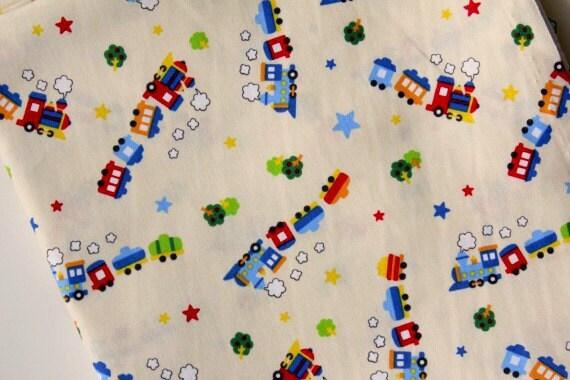 Japanese Fabric Cotton - Cute Train - LAST Fat Quarter