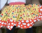 Gnoming Around Girls Twirly Skirt (sizes 6 months-8 Years)