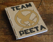 Hunger Games Inspired Journal or Jotter- Team Peeta- Blank or Lined Pages