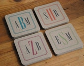 Monogram Personalized Coasters- Sets of 8