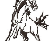 Wild Filly embroidery design - Handmade embroidery design - Machine Embroidery Design - Digital Design File