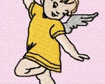 Instant Dowload Angel Girl Custom Embroidery Digitized Embroidery Machine Embroidery Digital Design File