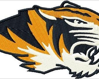 Tiger Head embroidery design file Digitized machine embroidery file