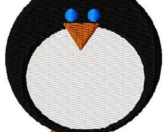 Instant Download Chill Out Penguin embroidery design - Machine Embroidery File - Machine Embroidery Design - Digital Design File