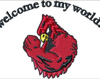 Instant Download Cardinal Muscleembroidery design - Handmade embroidery design file - Machine Embroidery Design - Digital Design File
