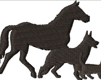 Instant Download Horse, Dog and Cat - Pets embroidery design - Machine Embroidery Design - Digital Design File