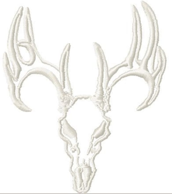 Instant Download Deer Skull Outline on wood burning patterns for free