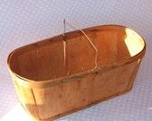 HUGE wood berry basket with handle