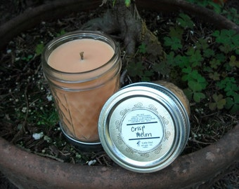 Crisp Melon soy and palm wax 8 oz jar candle
