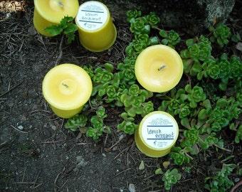 Lemon Bergamot soy and palm wax votives