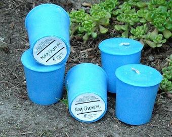 Nag Champa soy and palm wax votives