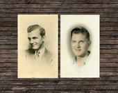 "Two Vintage, Photo and Photo Postcard ""Mr. Fabulous"", Photography, Paper Ephemera, Snapshot, Old Photo, Collectibles - JG005, JG007"