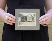 "Vintage Mounted Photo ""Cute Litte Farmhouse"", Photography, Paper Ephemera, Antique, Snapshot, Old Photo, Collectibles"