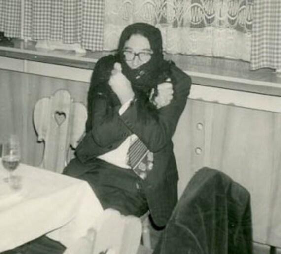 "Vintage Photo ""Cold Man"", Photography, Paper Ephemera, Snapshot, Old Photo, Collectibles - JG004"