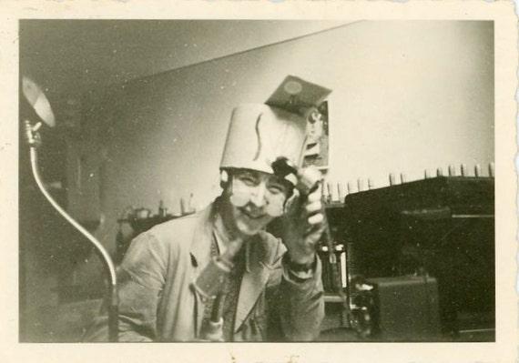 "Vintage Photo ""Mad Scientist"", Photography, Paper Ephemera, Snapshot, Old Photo, Collectibles - JG011"