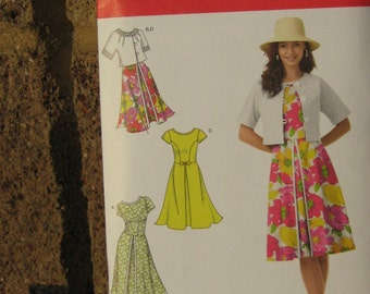 Dress and Jacket Pattern, Simplicity 1797 Women's SZ 6 through 14, Uncut
