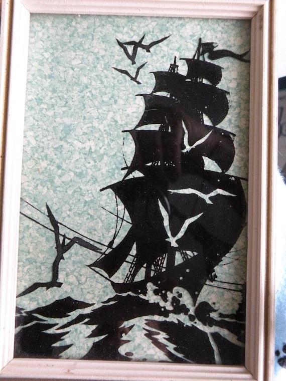 Sale Captain Jack Sparrow Pirate Ship Silhouette Vintage