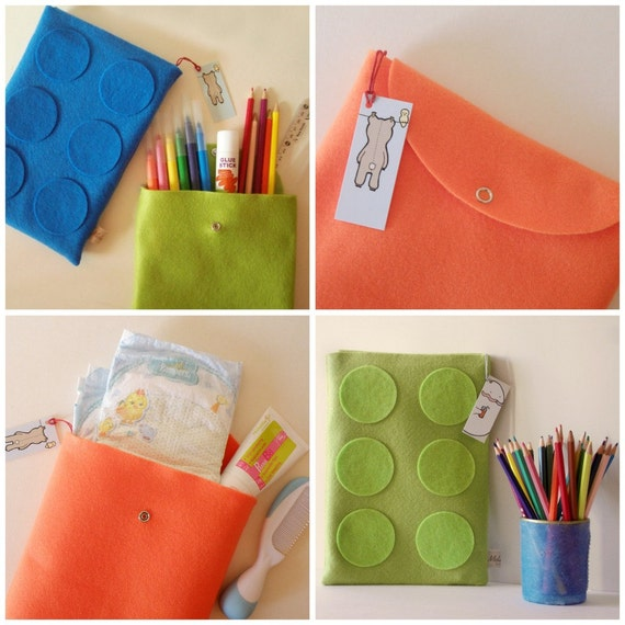 Baby small bags, Diapers bags, Nappy changing bags, back to school children small bags, made of felt