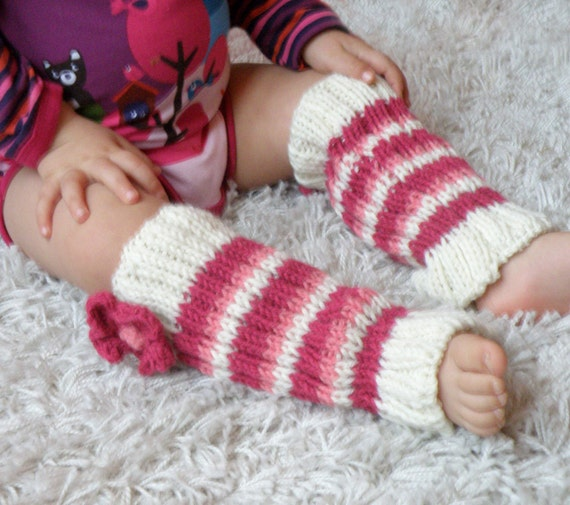 Free Knitting Pattern Baby Leg Warmers : Baby girl leggings hand knit leg warmers for babies by Melimebaby