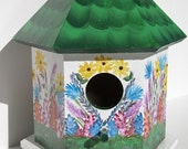Spring Time Wooden Bird House