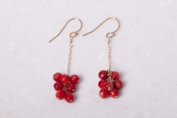 cherry bomb cluster earrings