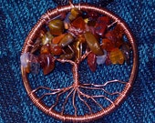 Tree of Life Pendant Necklace--Autumn