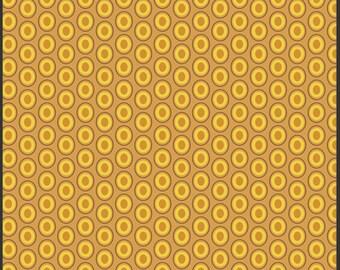 Art Gallery Oval Elements Dots in Mustard 1 yard
