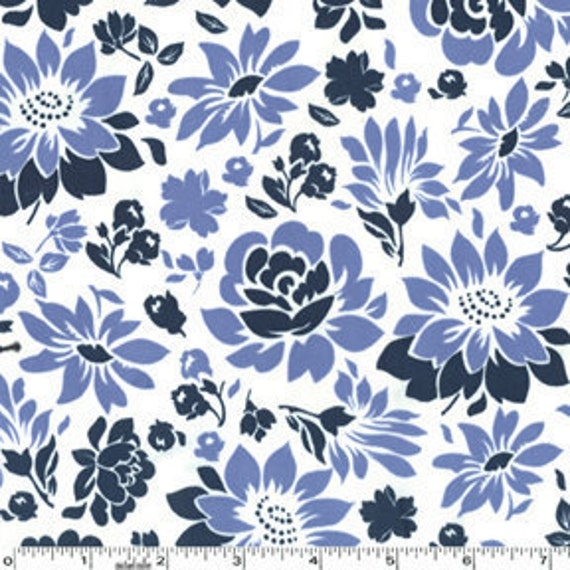 Secret Garden Midnight Picnic Flowers Michael Miller Fabrics by Sandi Henderson 1 Yard